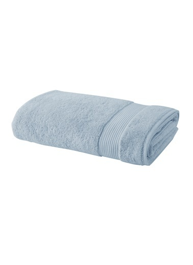 Bella Maison %100 Pamuk Premium Beyaz Banyo Havlusu (90x150 cm) Mavi